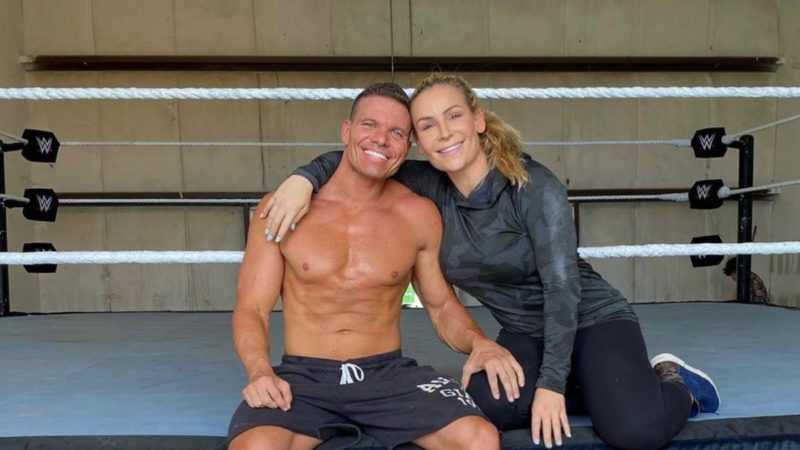 Tyson Kidd with Natalya