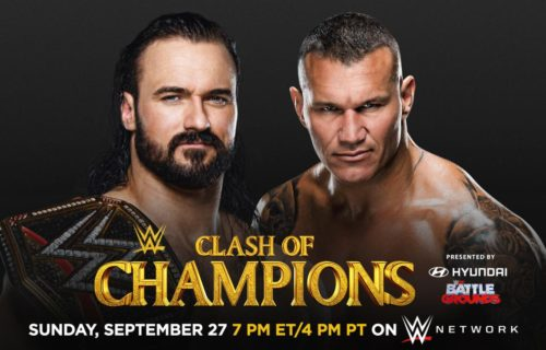"WWE Clash of Champions ""Gold Rush"" 2020 line-up"