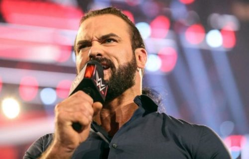 Drew McIntyre reacts to Randy Orton attacking WWE Legends