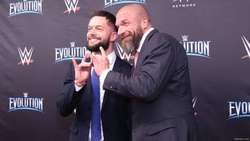 Finn Balor with Triple H