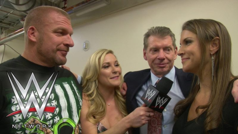 Renee Young with Vince McMahon