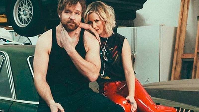 Renee Young with Jon Moxley