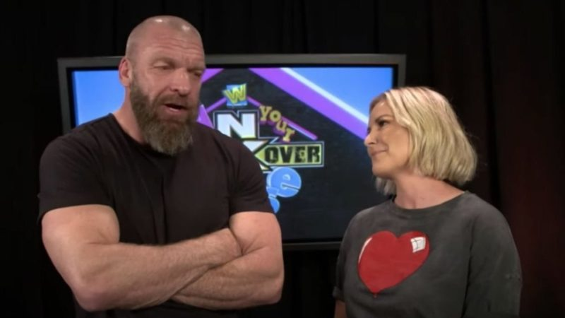 Renee Young with Triple H