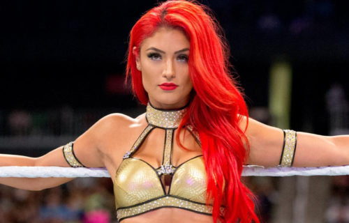 Eva Marie apparently made an appearance backstage on RAW recently