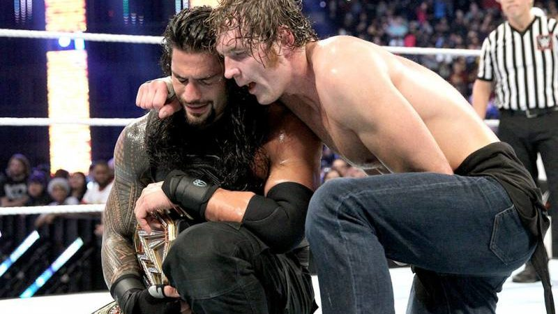 Roman Reigns and Jon Moxley
