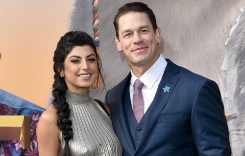 John Cena and Shay Shariatzadeh pose with marriage application (video)