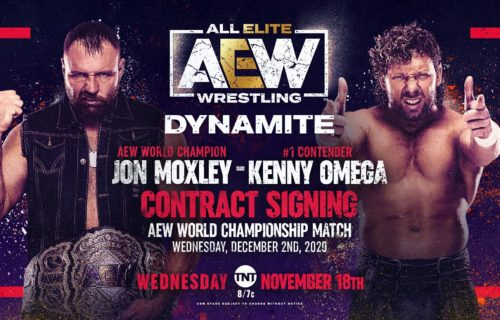 Moxley-Omega title match contract signing set for AEW Dynamite on 11/18