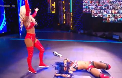 Carmella returns and attacks Sasha Banks