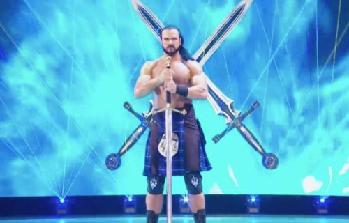 Drew McIntyre was given Vince McMahon's sword on RAW