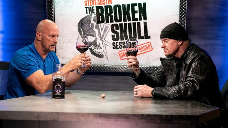 Steve Austin and The Undertaker wine tasting