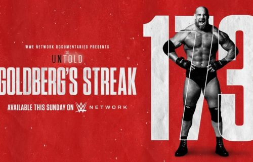 WWE Untold: Goldberg's Streak premieres on WWE Network on 12/13