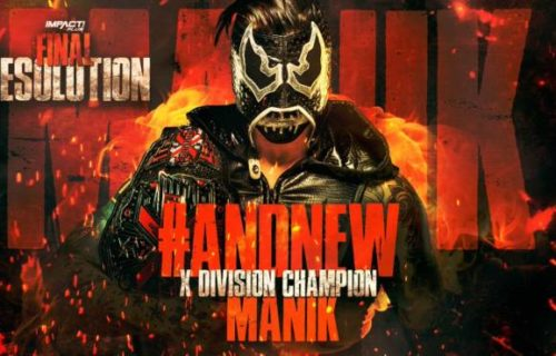 Manik has been crowned the new X-Division Champion
