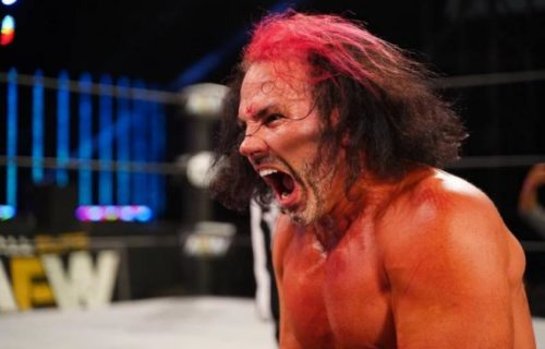 Jeff Hardy reacts to Matt's horrific bump at AEW All Out