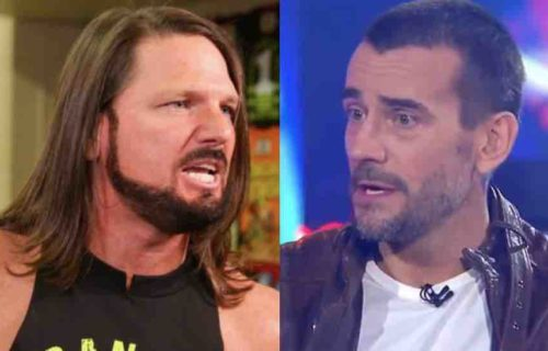 AJ Styles Reacts To CM Punk Photo With AEW Star