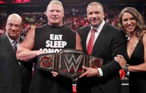 Brock Lesnar Triple Threat WWE Title Match Teased