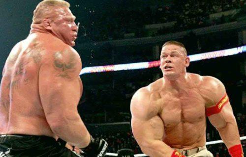 Brock Lesnar 'Trashed' John Cena For Sad Reason