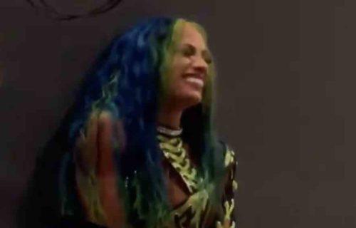 Sasha Banks 'Breaks Character' At WrestleMania