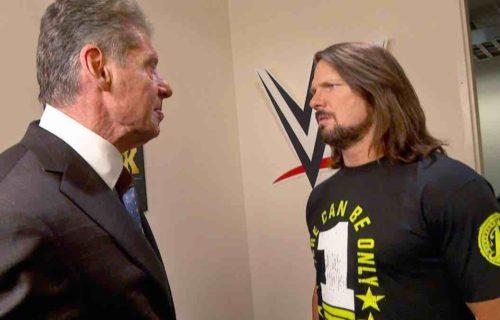 Vince McMahon 'Pulls' AJ Styles For Bad Reason