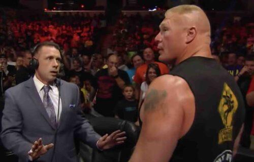 Michael Cole 'Disrespects' Brock Lesnar Backstage