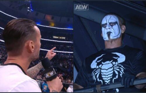 Sting 'Breaks Character' At CM Punk Debut